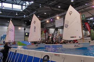 Opti Training auf der Beach & Boat
