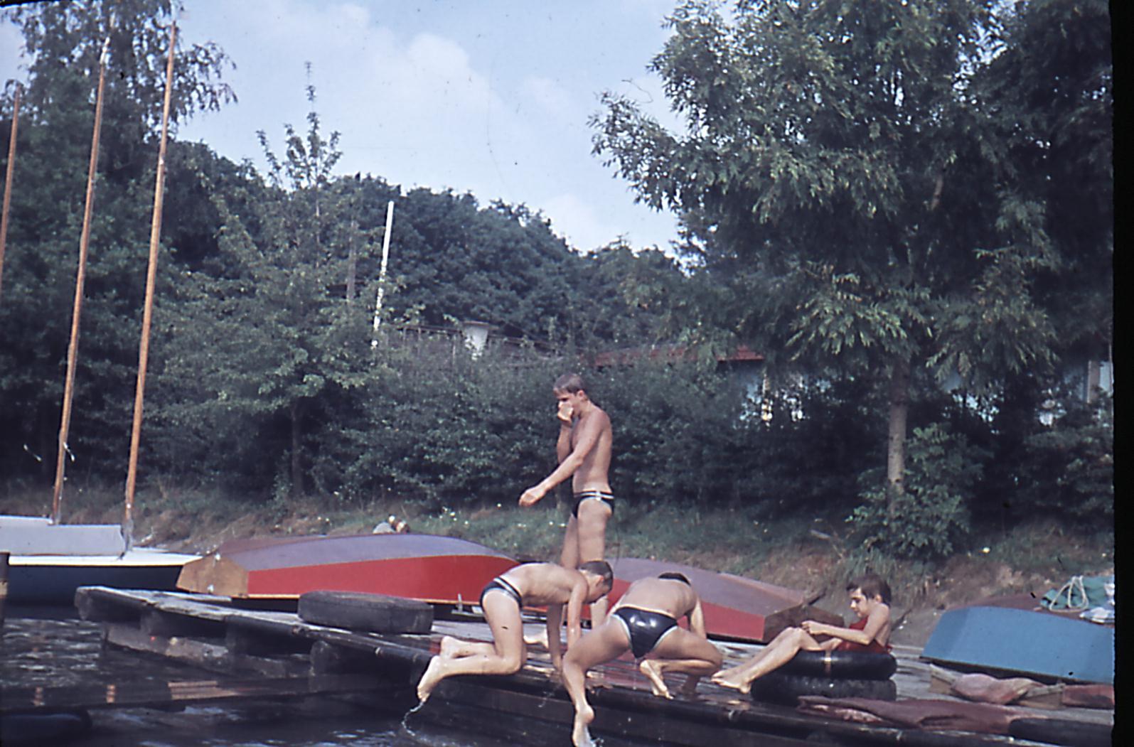 Cadets_am_Elsterstausee 1960er Jahre
